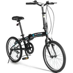"""20"""" 7-Speed Folding Bicycle Bike for Adult Lightweight Iron"""