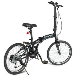 """20"""" 7-Speed Folding Bicycle Bike for Adult Lightweight Dual"""