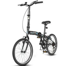 """20"""" 7-Speed Folding Bicycle Bike for Adult Lightweight Durab"""