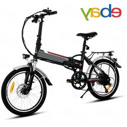 20'' Electric Bike EBike Foldable Adult City Bicycle Damping
