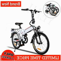 20in Folding Electric Bike with 36V 8Ah Removable Lithium-Io