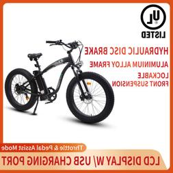 "26"" 1000W 48V Mountain Electric Bike Bicycle EBike E-Bike Re"