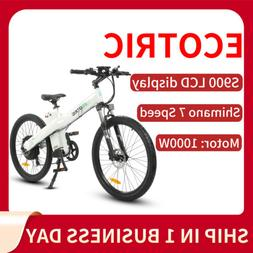 "ECOTRIC 26"" 1000W 48V13Ah Mountain Electric Bicycle E-Bike E"