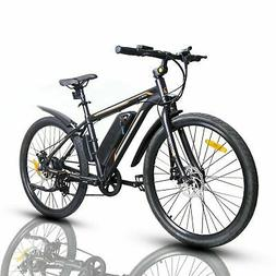 "26"" 350W Electric Bicycle Bike Beach Mountain Ebike w/Remova"