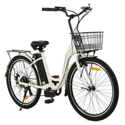 "26""36V 10AH 350W City Electric Bicycle e-bike White with Bas"