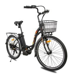 "26""36V 10AH 350W City Electric Bicycle e-bike Black with Bas"