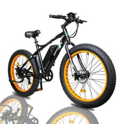 "26""500W 36V12Ah FatTire Mountain Electric e-Bike Bicycle Rem"