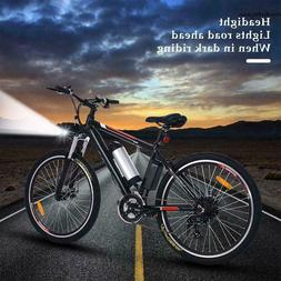 "26"" Folding Electric CLIENSY 350W City Mountain Bike Cycling"