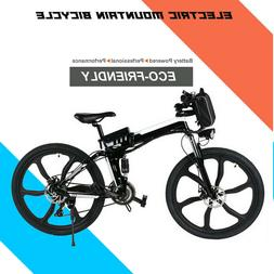 26'' Folding Electric Bike Mountain Bicycle Ebike Shimano 21