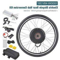 "48V 26"" Rear Wheel Electric Bicycle Motor Conversion Kit 100"