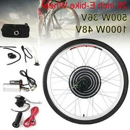 26in Front Rear Wheel 500W/1000W Electric Bicycle Ebike Conv