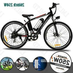 26INCH Electric Bike, Adult Mountain Bicycle Ebike 36V Remov