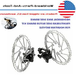 2pcs Mountain Bike Road Bicycle 160mm Rotors Front Rear Disc