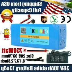 36V 10Ah Lithium Battery Pack ≤500W ebike E Bicycle batter