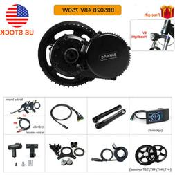 48V 750W Bafang Electric Bicycle BBS02B Mid-drive Motor Conv