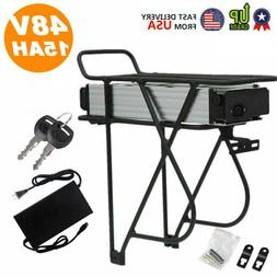 48V Ebike Electric Battery Lithium Li-ion Rear Rack Unit for