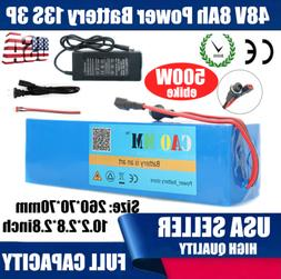 48V8Ah Lithium Battery Pack 500W ebike Electric E Bicycle Sc
