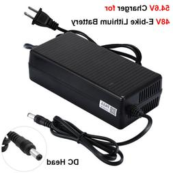 54.6V 2A Power Charger DC Head For 48V Electric Bicycles E-b