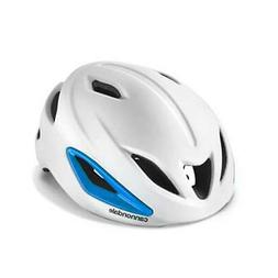 Cannondale Adult Intake MIPS Bicycle Helmet - White with Blu