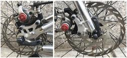 AMP Research mountain bike front and rear ISO disc brake con