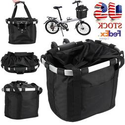 Bicycle Basket Folding Small Pet Cat Dog Carrier Front bike