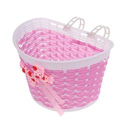 Bicycle Front Basket Bowknot Bike Shopping Holder for Childr