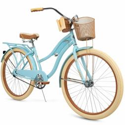 Bike For Women Cruiser Beach Bycicle Vintage Basket 26 inch