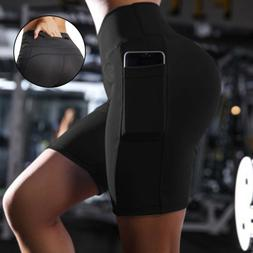 Black Cycling Underwear Women Quick Dry Bike Shorts With 2 S