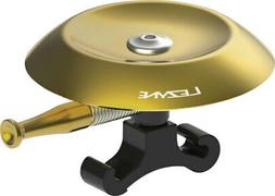 Lezyne Classic Shallow Brass Bell: Black & Gold Bicycle Aler