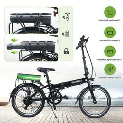 "20"" Folding Electric Bike Commuter City Bicycle Cycling 36V"