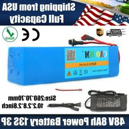 Ebike Battery Lithium 48V8Ah 750W E Bicycle Motor Electric P