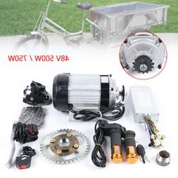 Electric Brushless Motor 48V 750W 500W DIY for Tricycle E-Bi