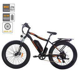 AOSTIRMOTOR Electric Mountain Bike 26*4 inch Fat Tire Ebike,