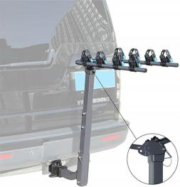 Foldable Sturdy 4-Bike Hitch Mounted Rack Steel Bicycle Carr