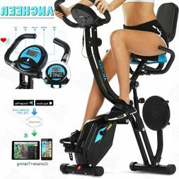 ANCHEER Folding 2 in 1 Exercise Bike Machine Stationary bicy