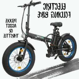 "Folding 20"" 48V 13AH 500W Electric Fat Tire City E Bike Beac"