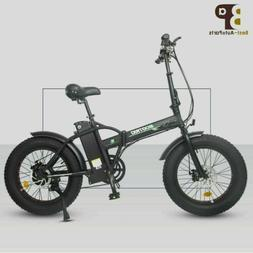 "Folding 20"" 48V 12.5AH 500W Electric FatTire City E Bike Bea"