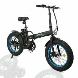 Folding Electric Fat Tire Bike Beach Bicycle City Ebike 20""