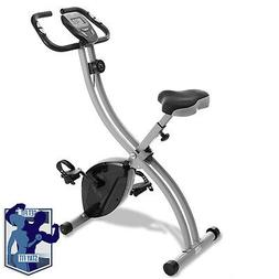 Folding Stationary Upright Indoor Cycling Exercise Bike with