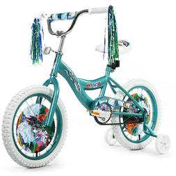 """Girls 16"""" Bicycle Bike  with Removable Training Wheels For"""