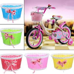 Girls Bicycle Front Basket Flowery Cycle Bike Shopping Holde