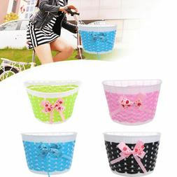 Girls Children  Bike Flowery Front Basket Bicycle Cycle Shop