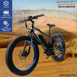 "Gplus 26"" Fat Tire Electric Bicycle 500W 36V e-Bike Mountain"