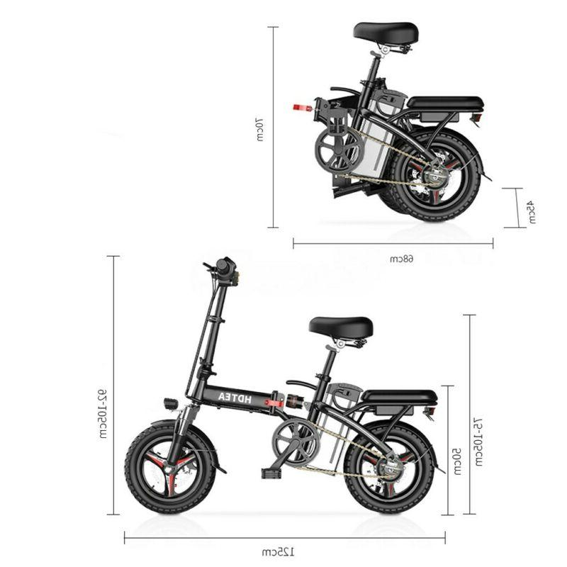 14'' Electric Folding Commuter Bicycle 48V