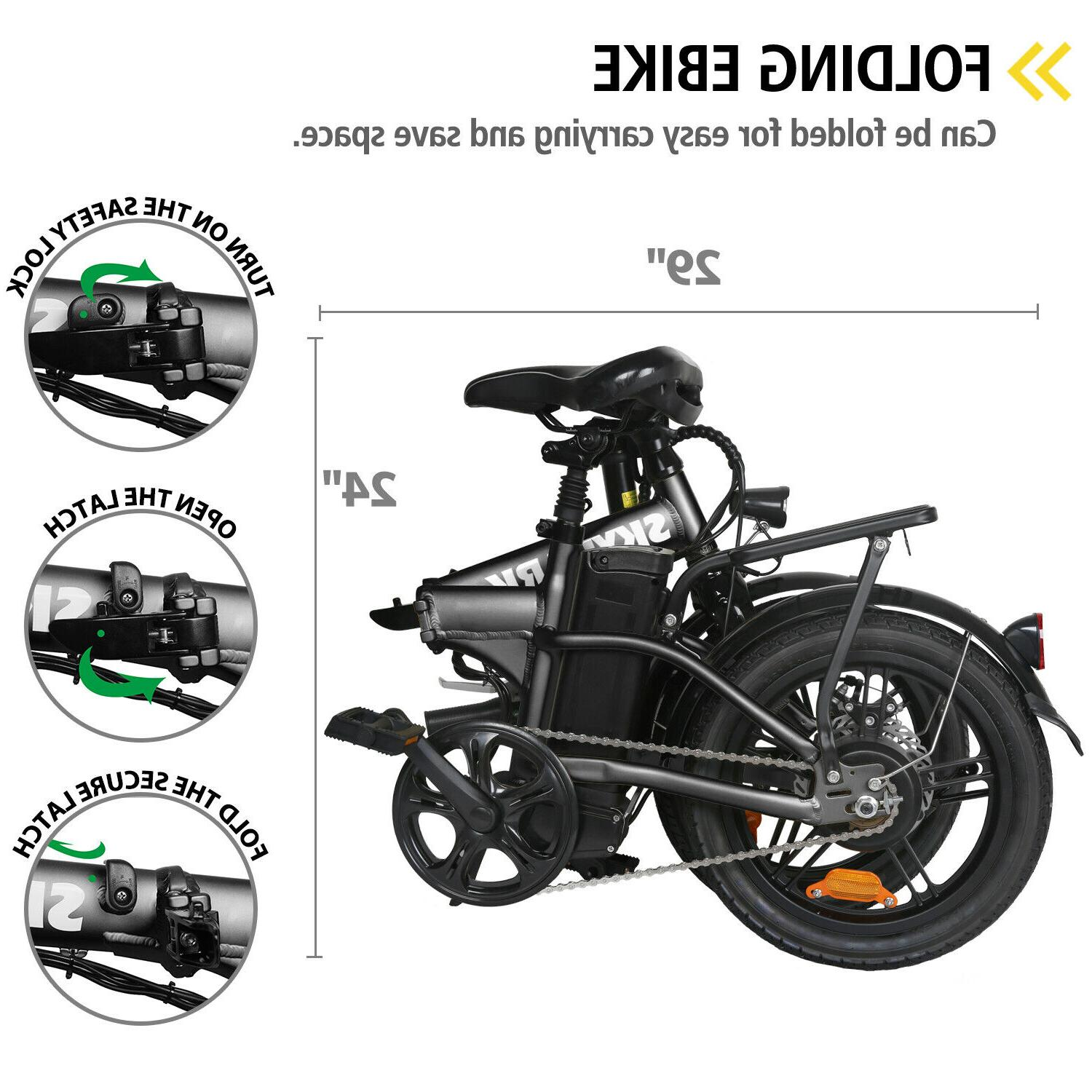 """16"""" Folding Electric for Adults 250W with"""
