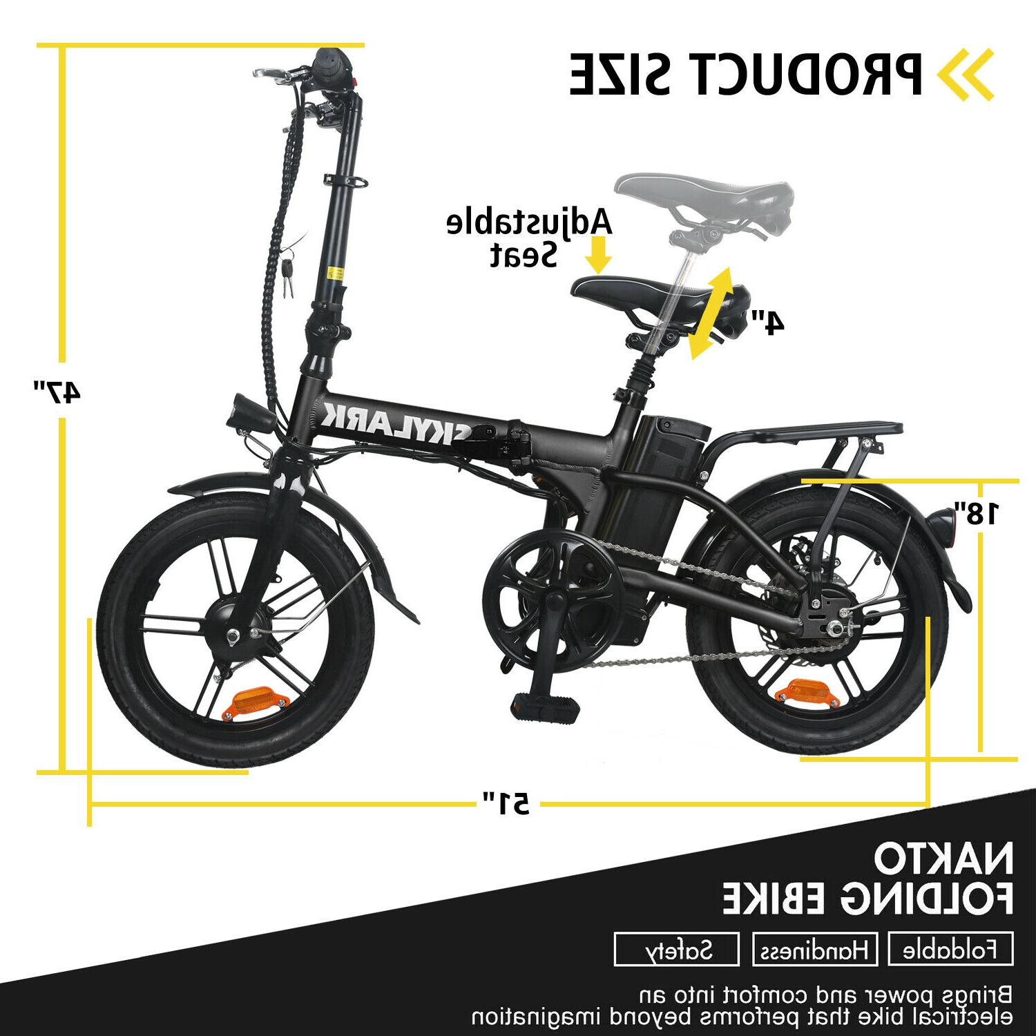 """16"""" Folding Electric for Adults with"""