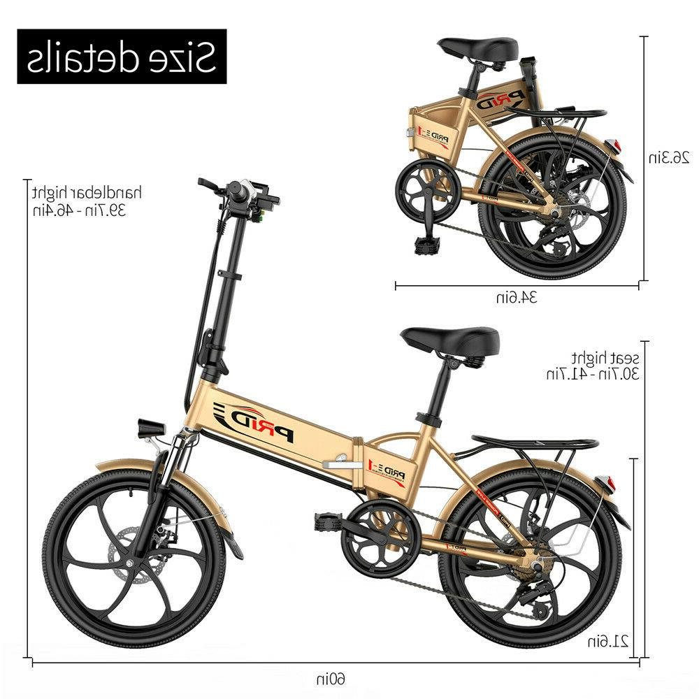 """ENGWE 20"""" Electric Bicycle 48V 6"""