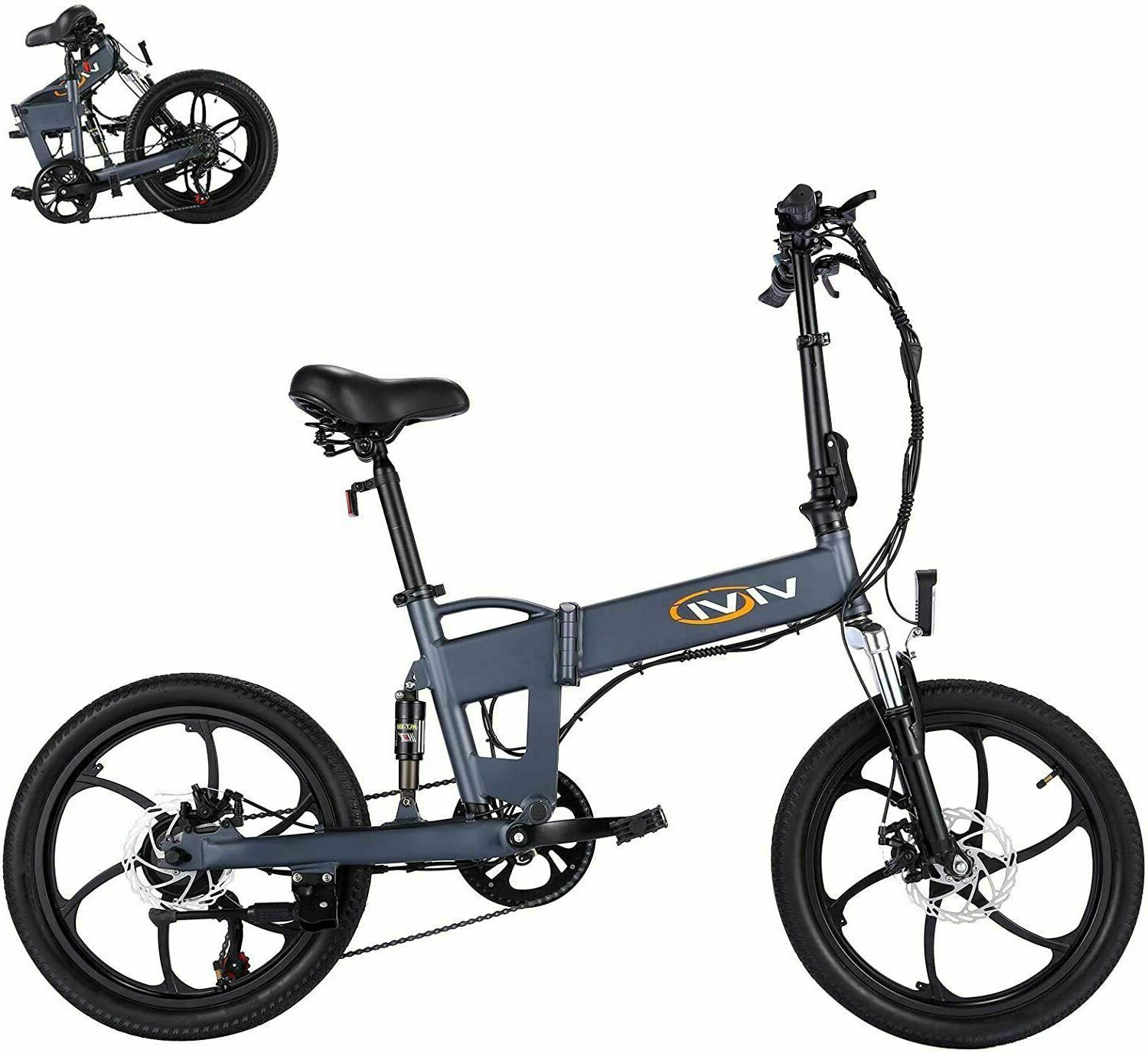 20'' Folding Electric Ebike 350W Removable