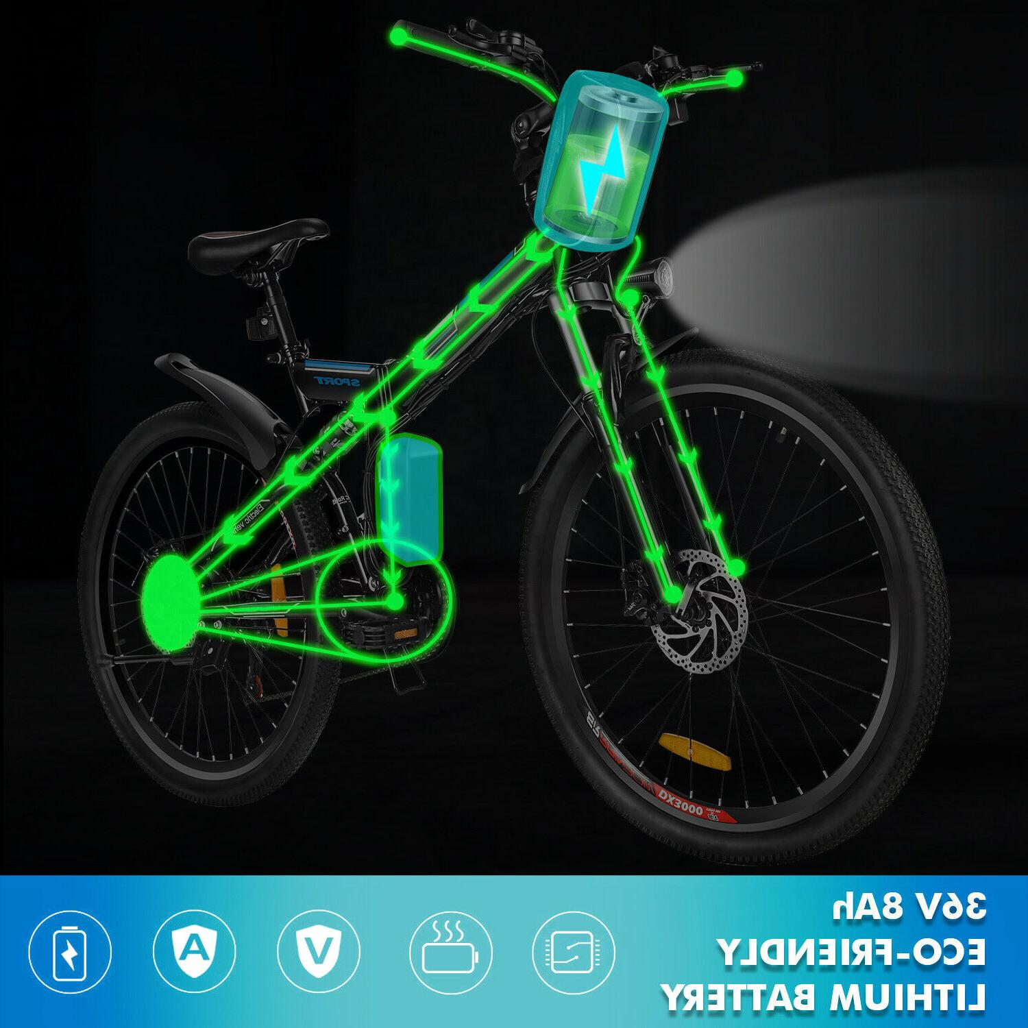 26'' Electric Mountain Bicycle Ebike Speed 36V with