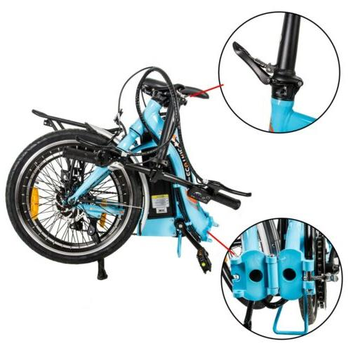 """ECOTRIC 20"""" 36V FOLDING Electric Bicycle eBike Removable 7"""